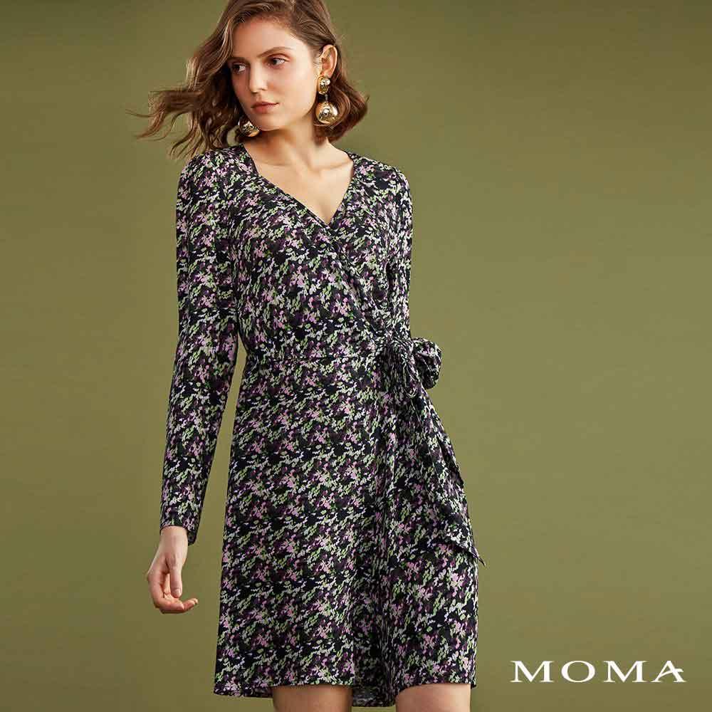 MOMA(02P064)迷彩花連身褲裙