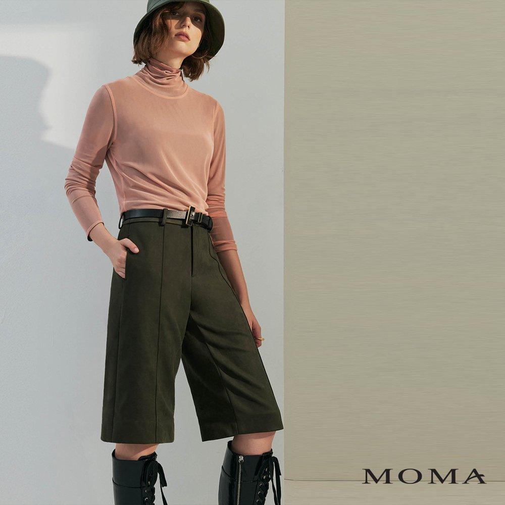 MOMA(02P084)麂皮五分褲
