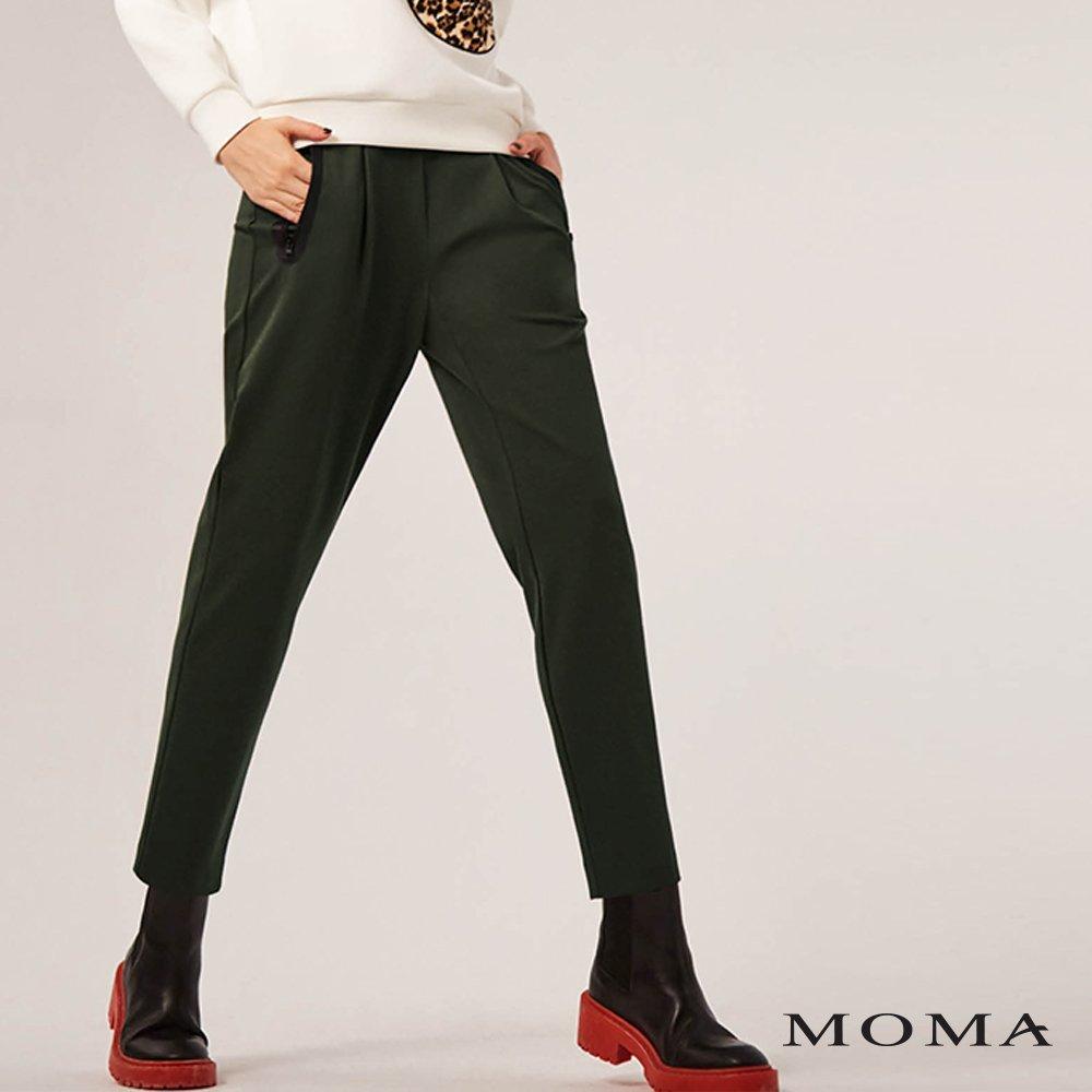 MOMA(02P086)貼合拉鍊打褶老爺褲