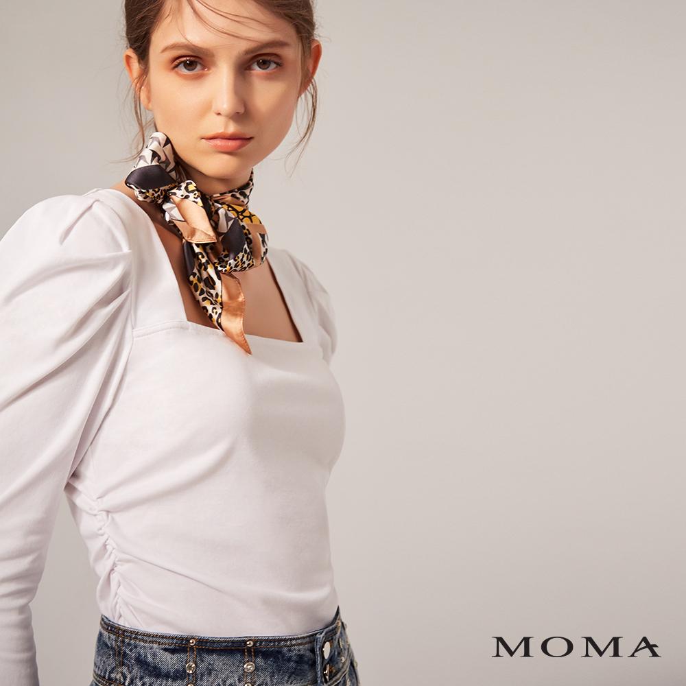 MOMA(02M062)公主袖抽皺腰身上衣