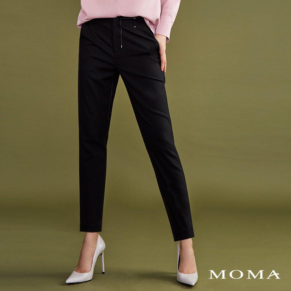 MOMA(02P007)明線裝飾九分西裝褲