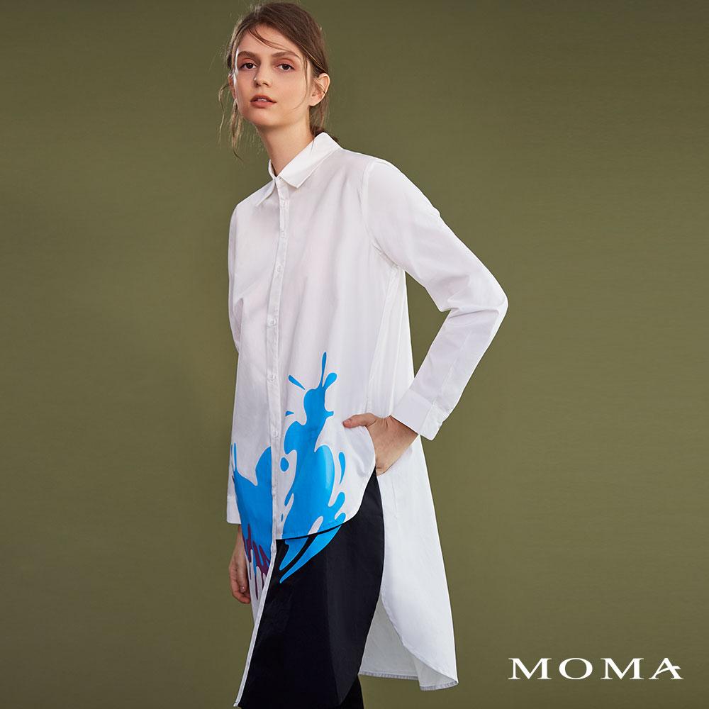 MOMA(02B007)抽象圖案長襯衫