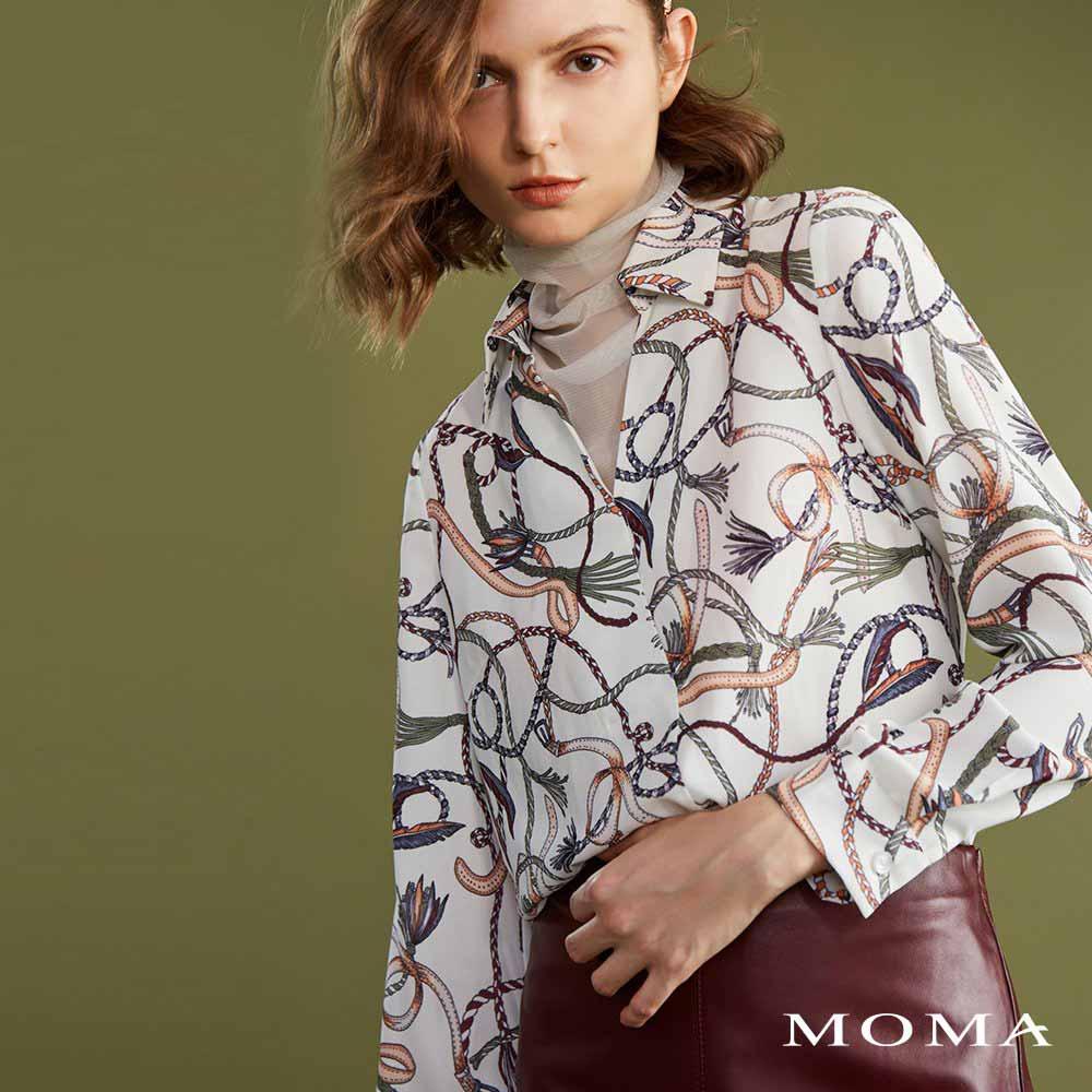 MOMA(02G032)假兩件高領上衣