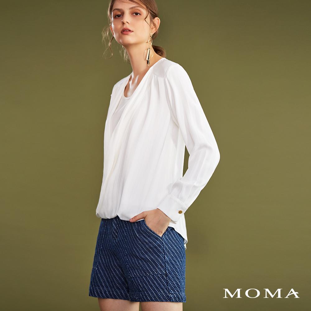 MOMA(02P058)緹花牛仔短褲