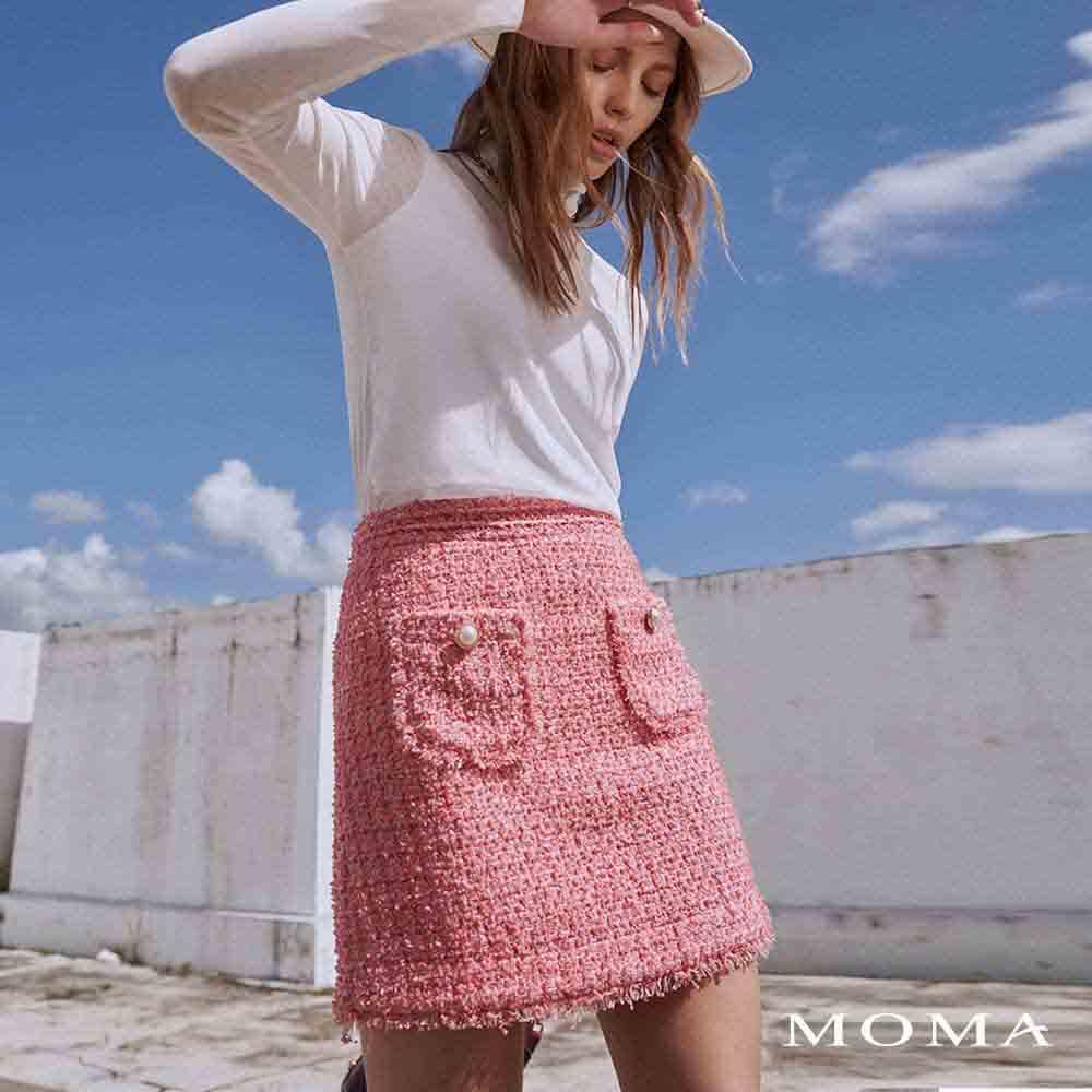 MOMA(02S074)小香風花呢短裙
