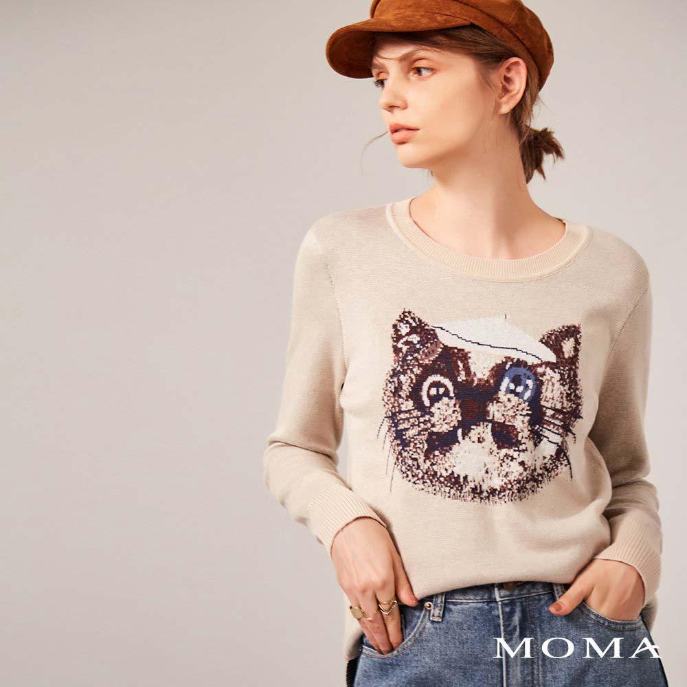 MOMA(02KM32)趣味貓迷圖案上衣
