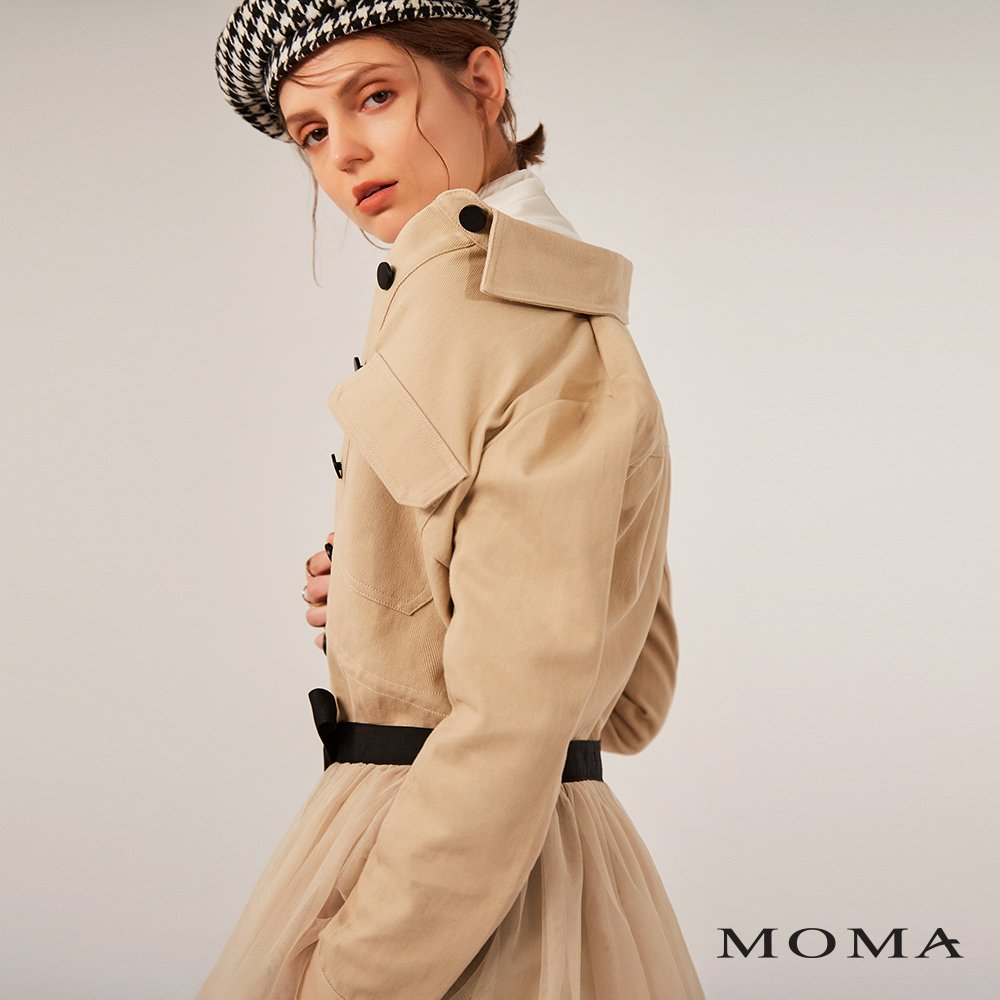 MOMA(02J035)網紗裝飾襯衫外套