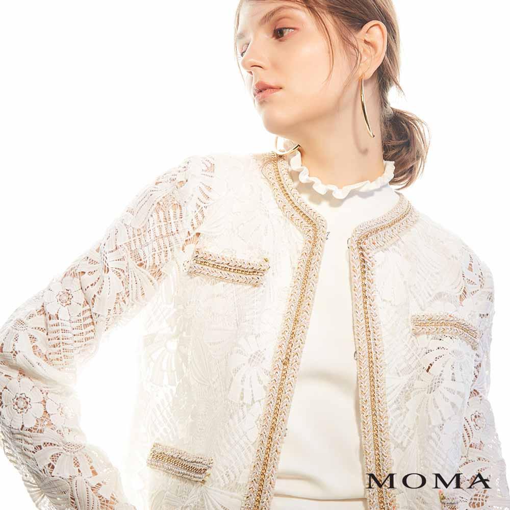 MOMA(02J039)小香風蕾絲外套