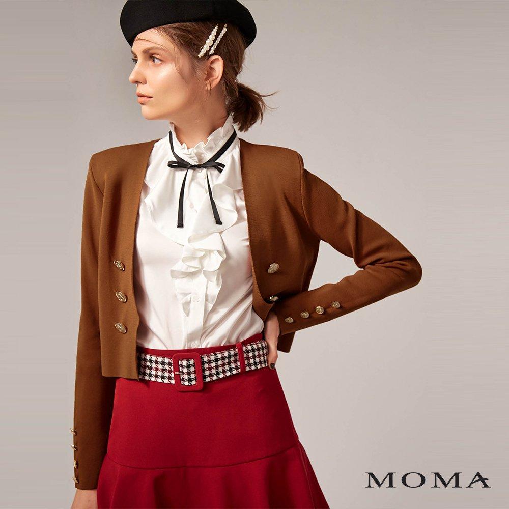 MOMA(02KJ21)時髦小墊肩針織外套