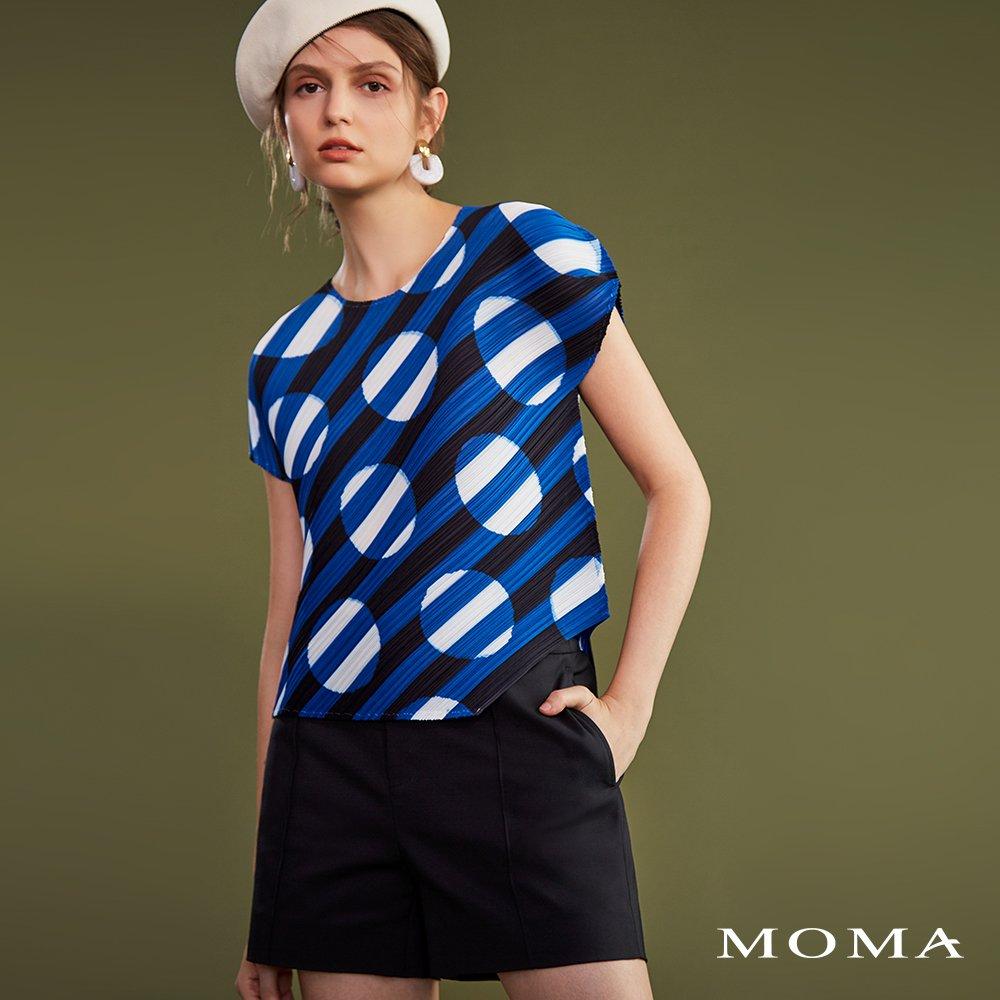 MOMA(02P074)壓立體線俐落短褲