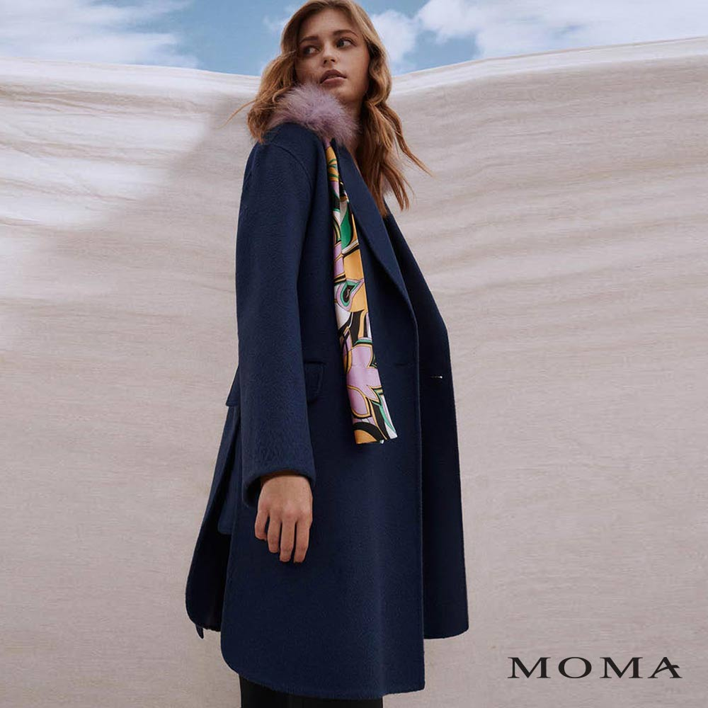 MOMA(02J027)雙面毛呢經典廓形大衣