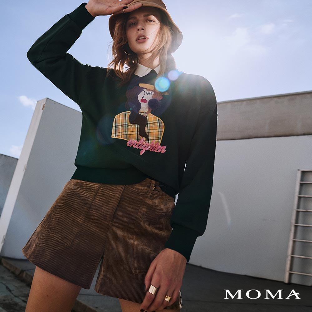 MOMA(02P099)抽繩燈芯絨短褲