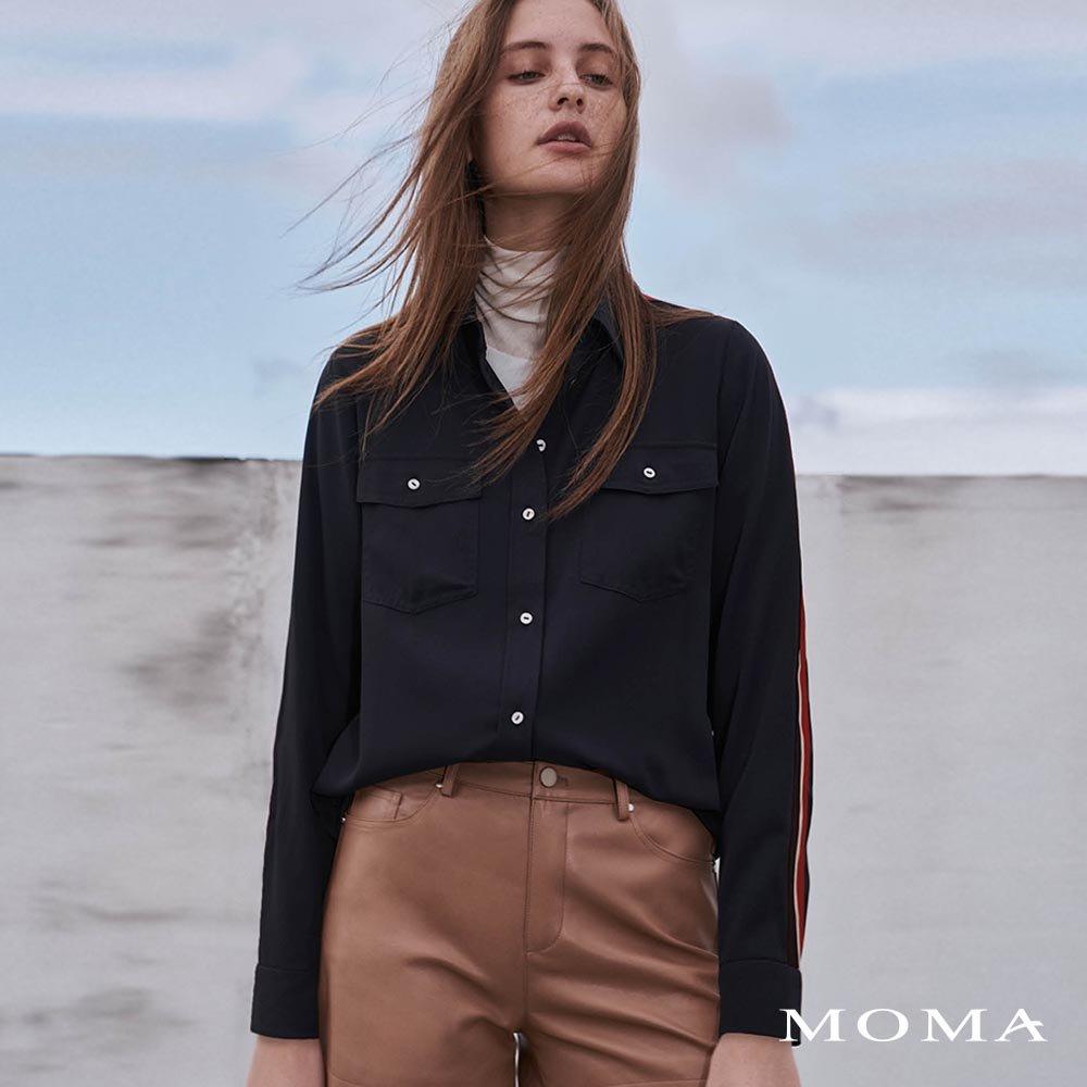 MOMA(02B031)織帶裝飾襯衫
