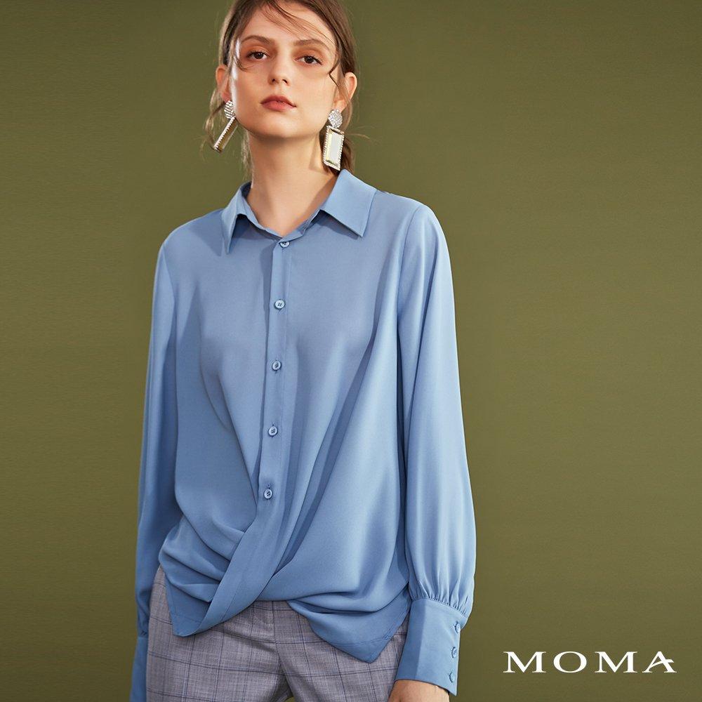 MOMA(02G058)設計感扭結上衣