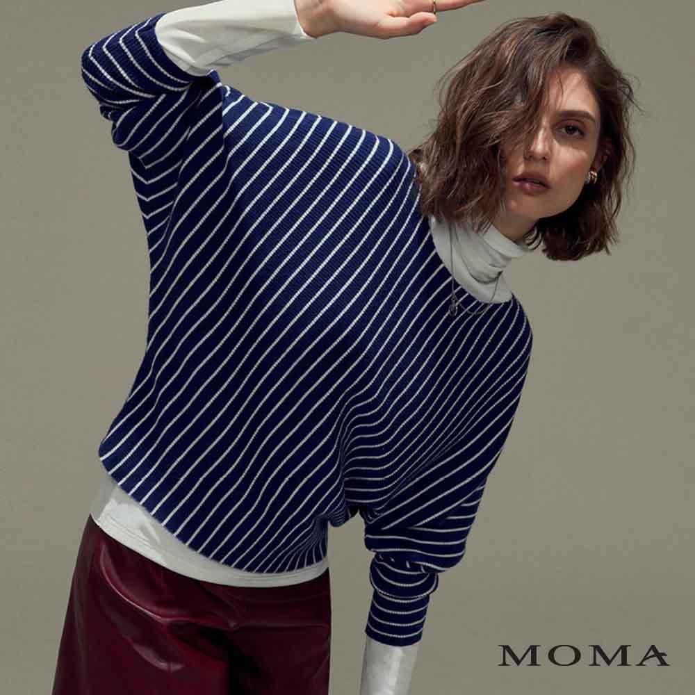 MOMA(02KM52)連袖條紋毛織上衣-剩餘40號
