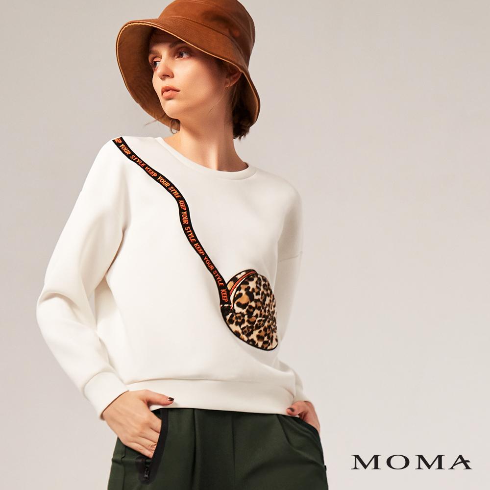 MOMA(02M040)動物紋斜背包圖案上衣