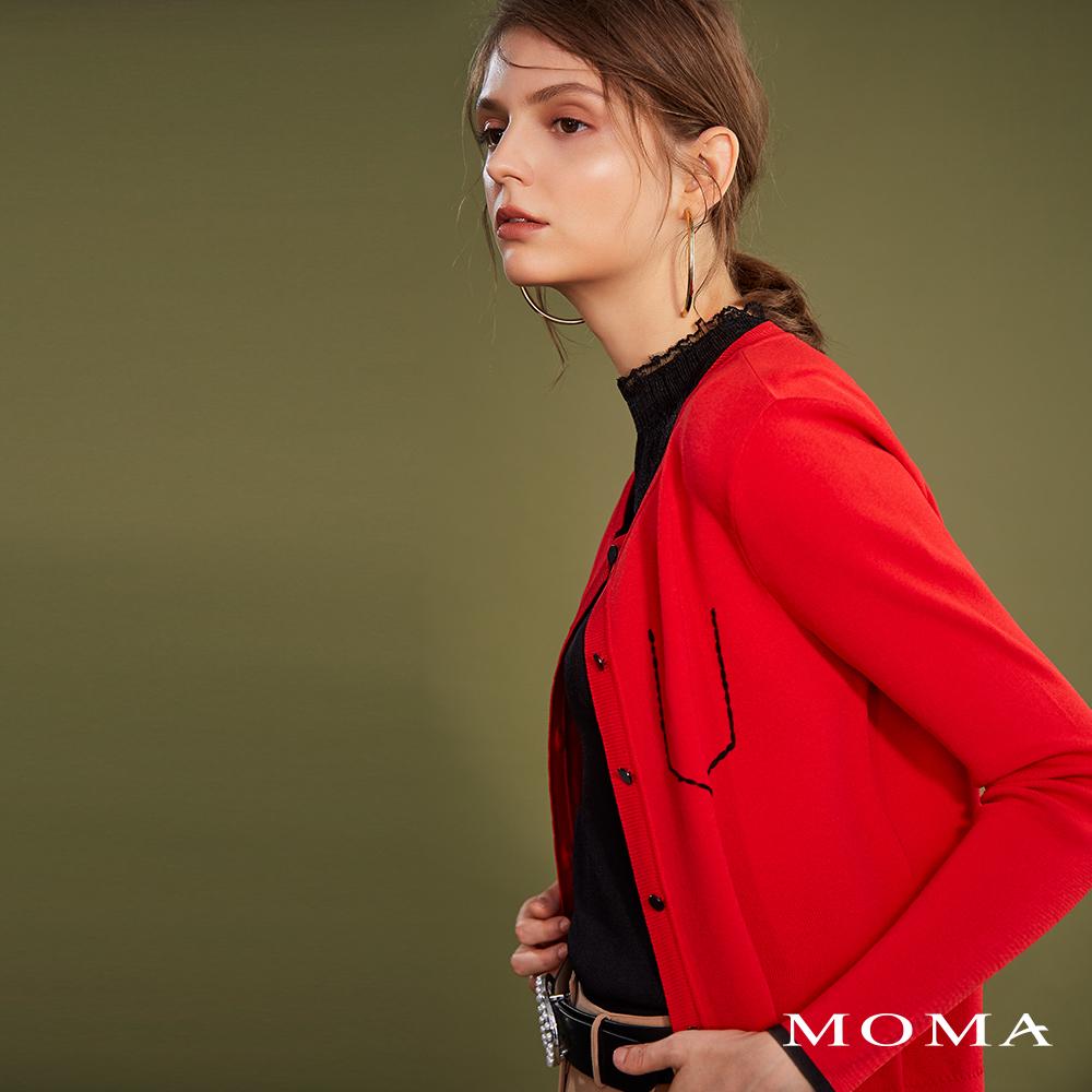 MOMA(02KJ10)裝飾口袋針織外套