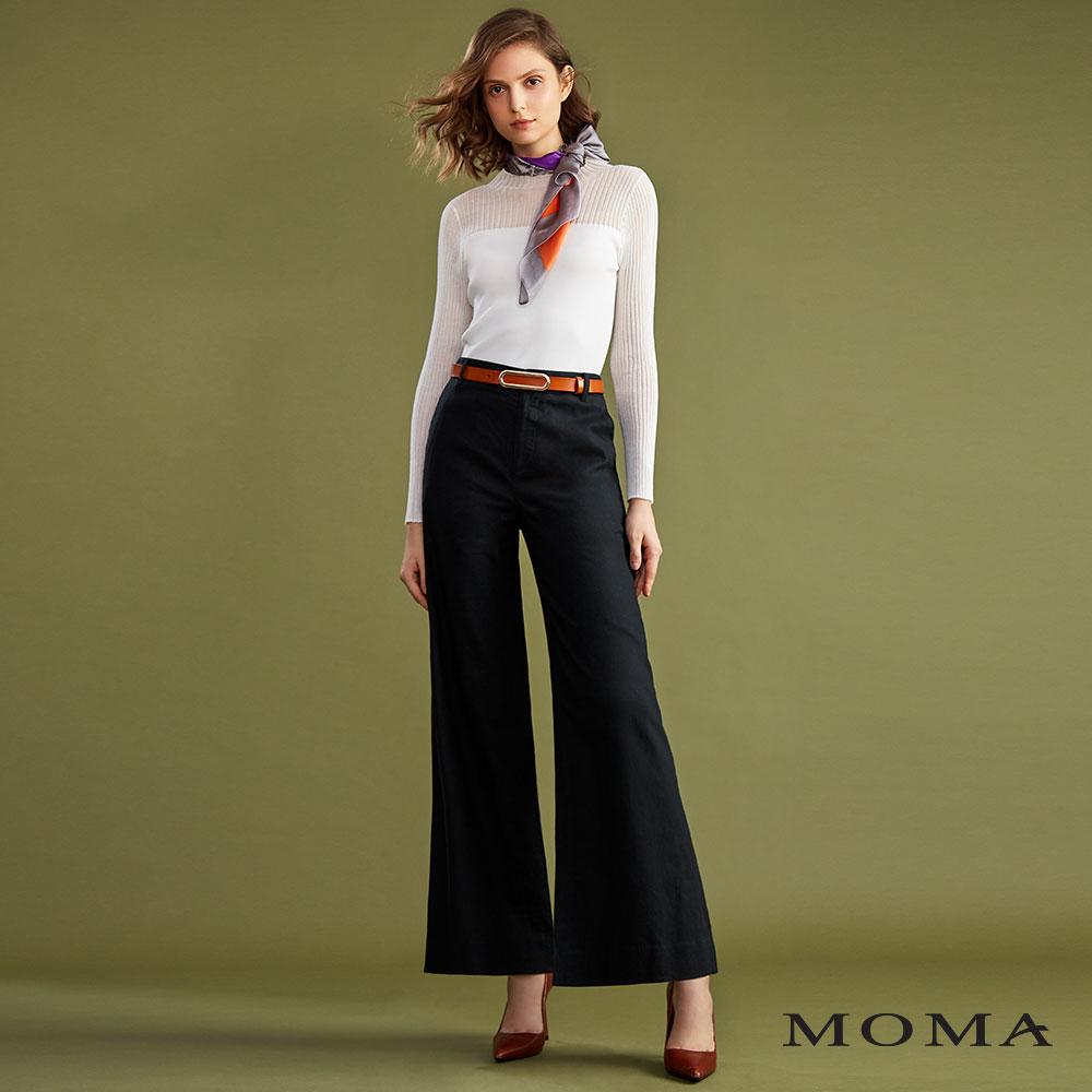 MOMA(02P063)麻料輕鬆廓型寬褲