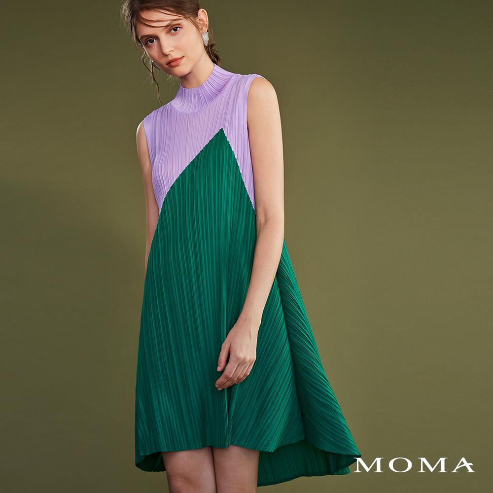MOMA(02D035)傘狀壓褶洋裝