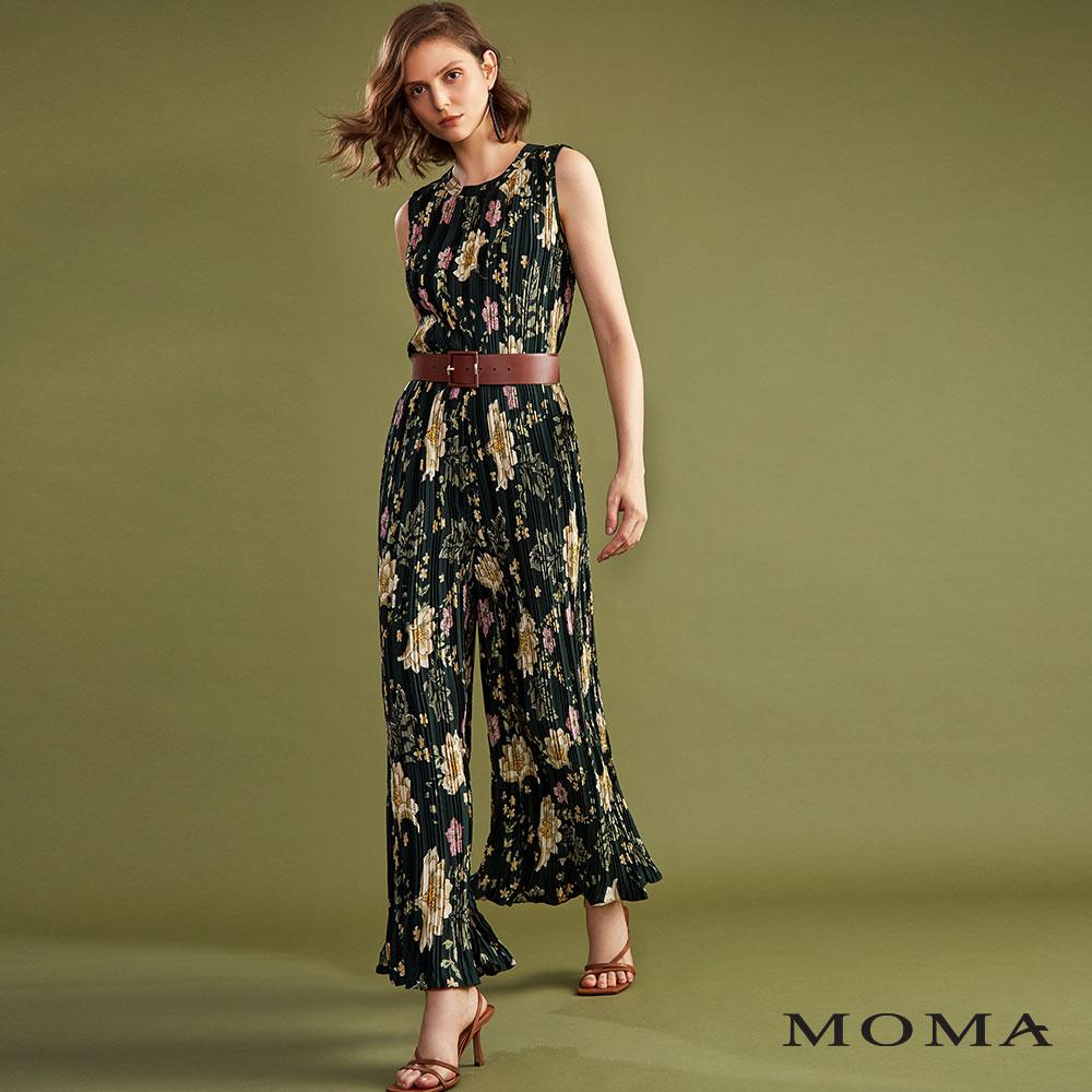 MOMA(02P051)花朵印花連身褲