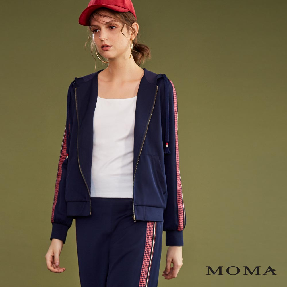 MOMA(02J010)金蔥飾邊連帽外套-剩餘34號