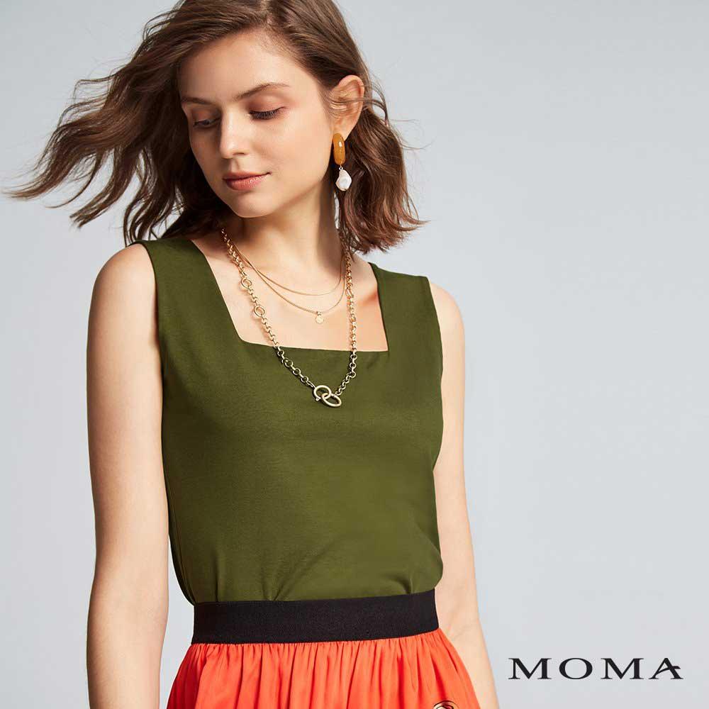 MOMA(02M046)方領無袖上衣