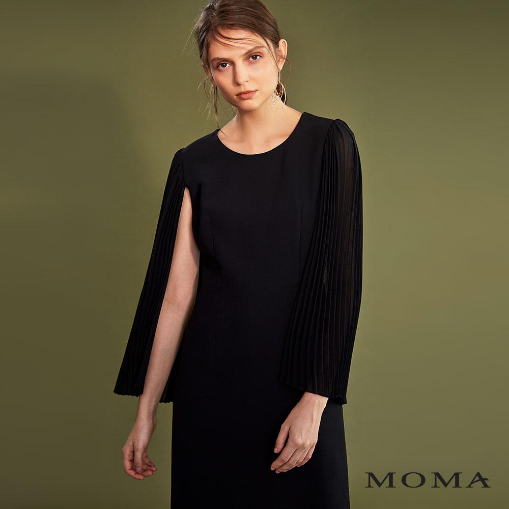 MOMA(02D006)壓褶傘袖洋裝