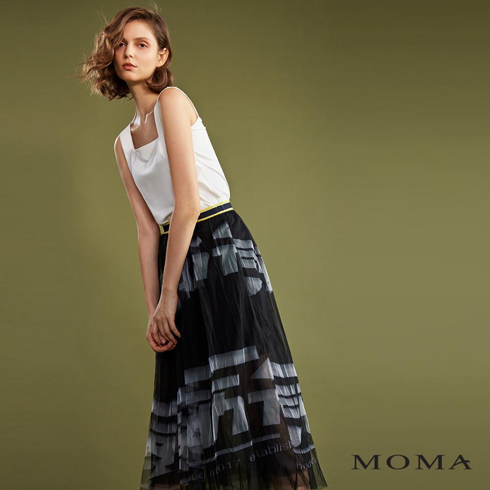 MOMA(02S047)文字印花紗裙