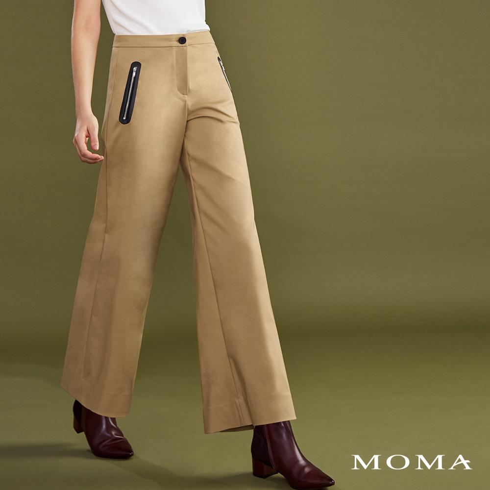 MOMA(02P082)貼合拉鏈造型寬褲