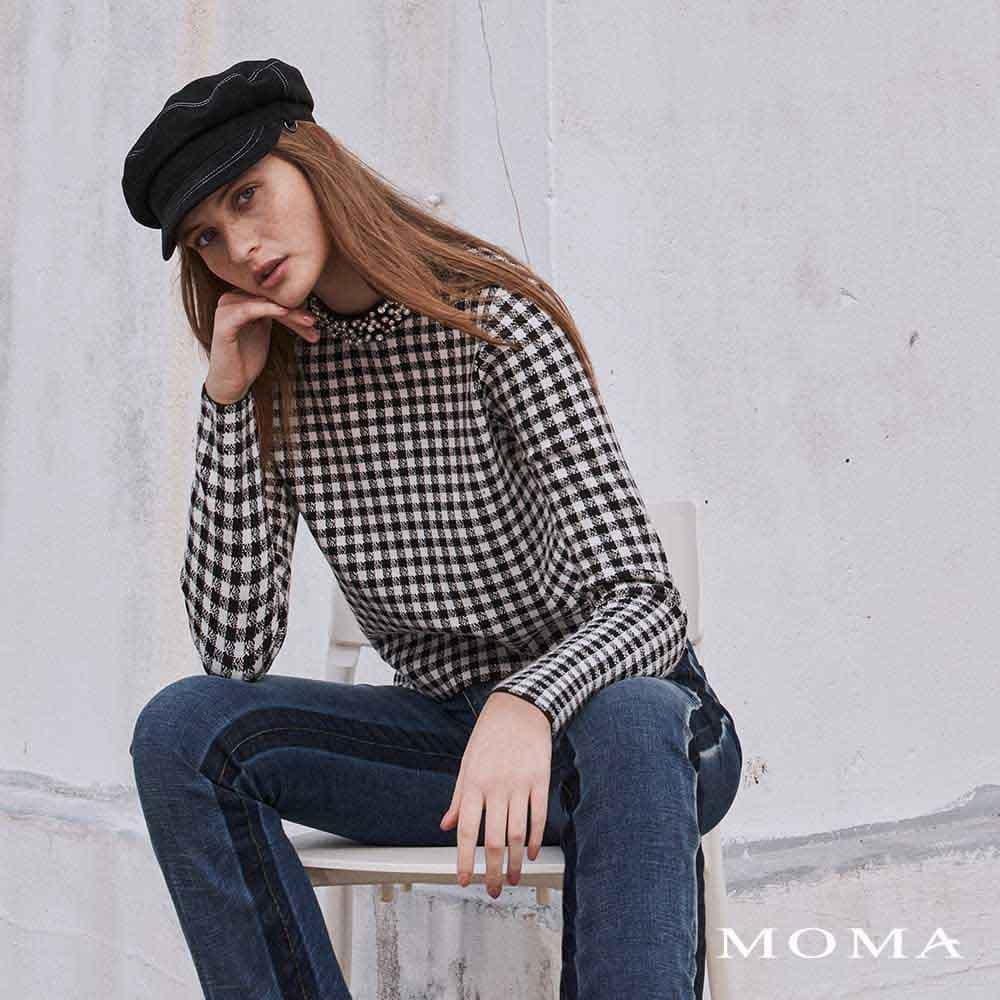 MOMA(02KM58)華麗珠飾針織上衣