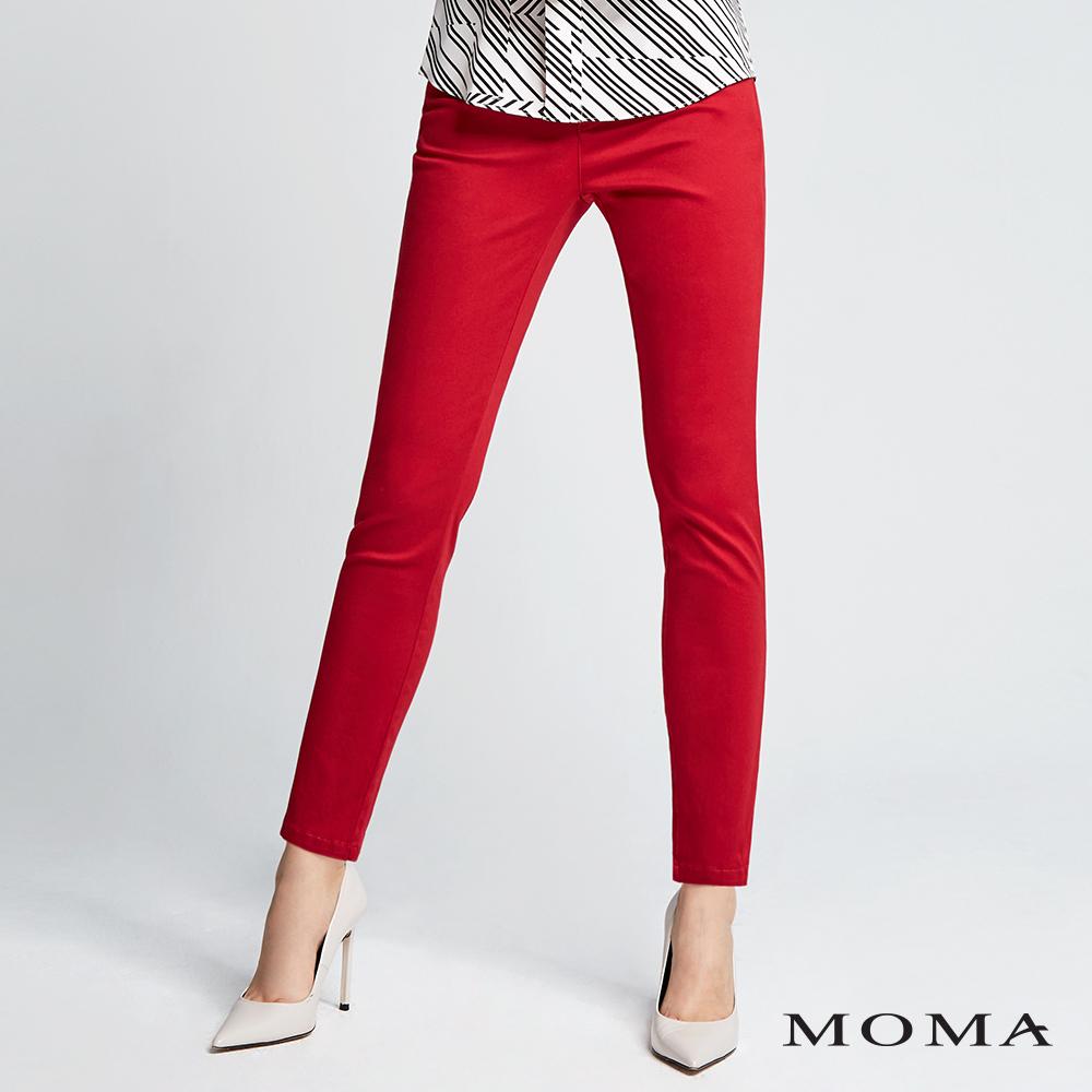 MOMA(02P023)合身斜紋褲