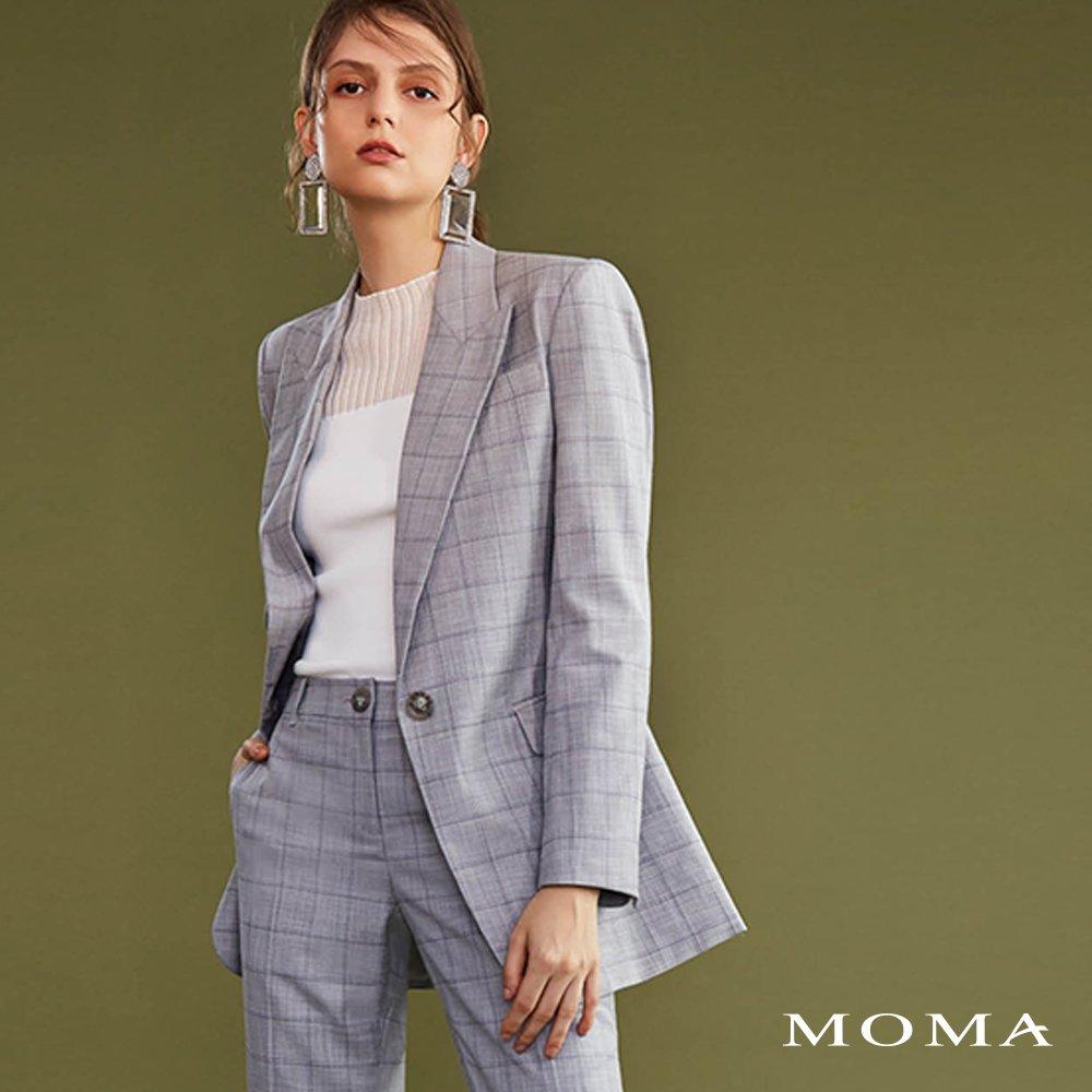 MOMA(02J057)格紋西裝外套