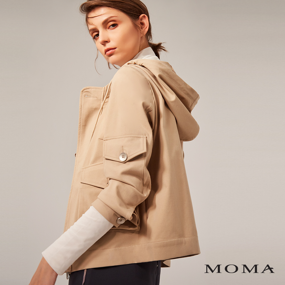 MOMA(02J009)工裝口袋連帽外套