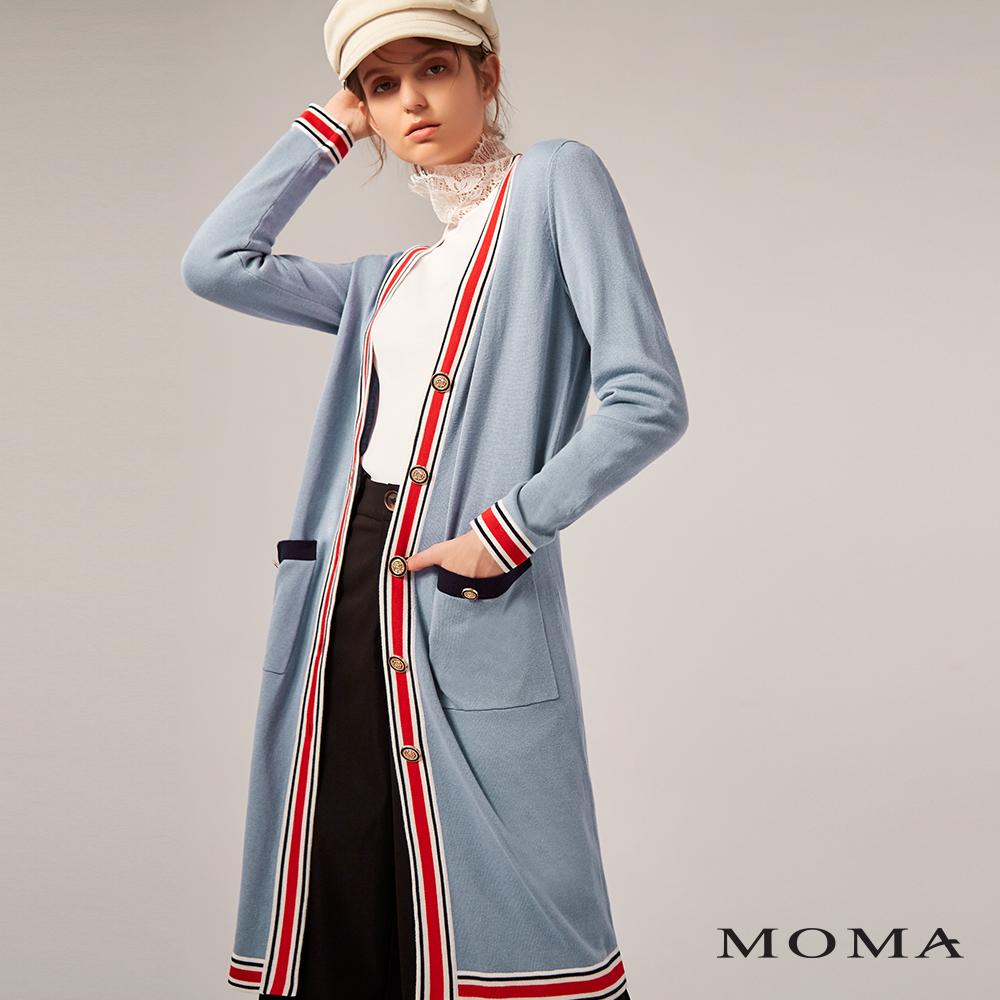 MOMA(02KJ09)小香風長版針織外套