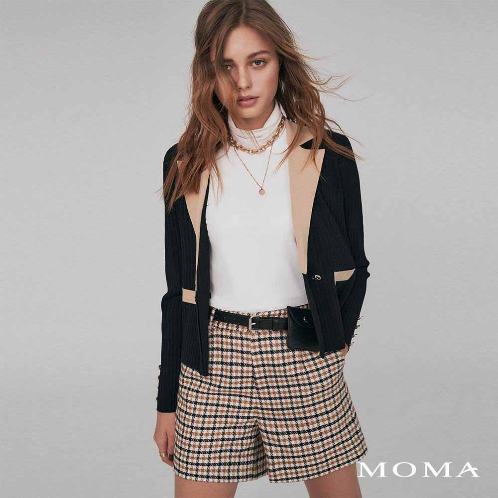 MOMA(02P095)千鳥格紋短褲