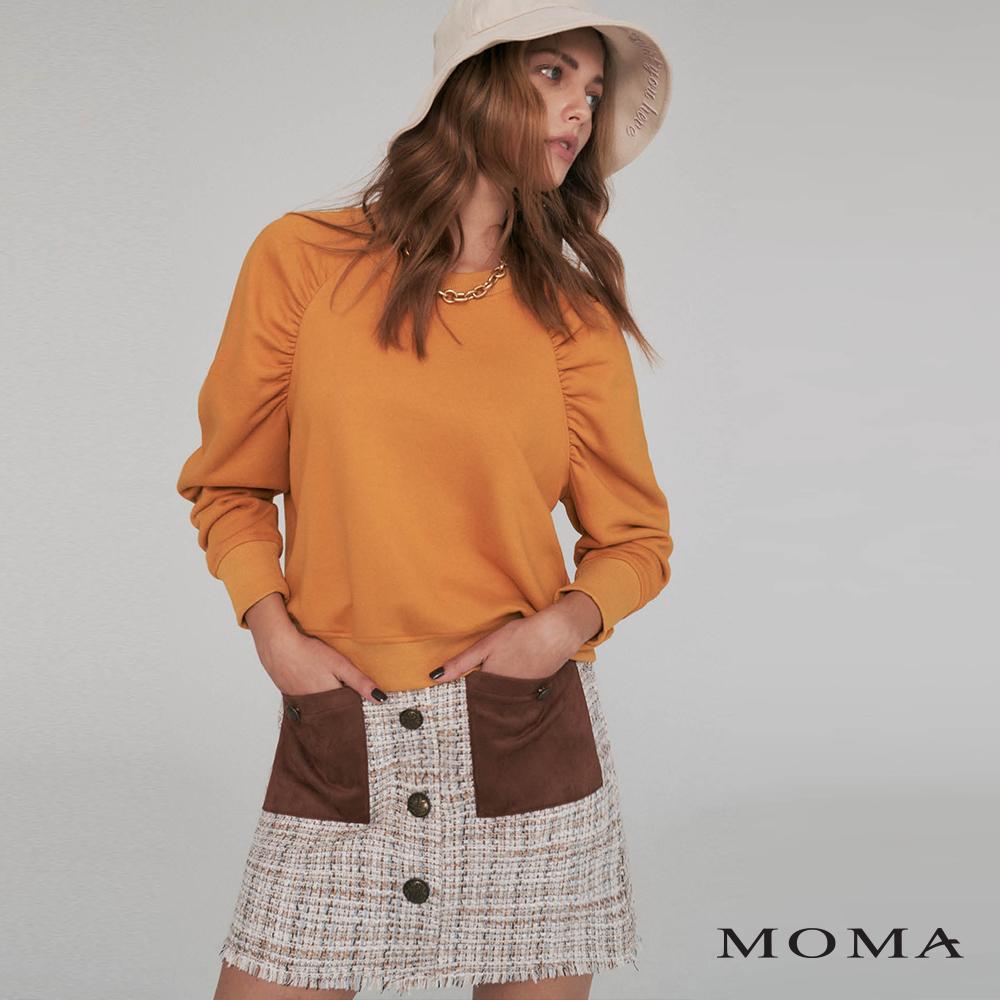 MOMA(02S060)異材質口袋花呢短裙