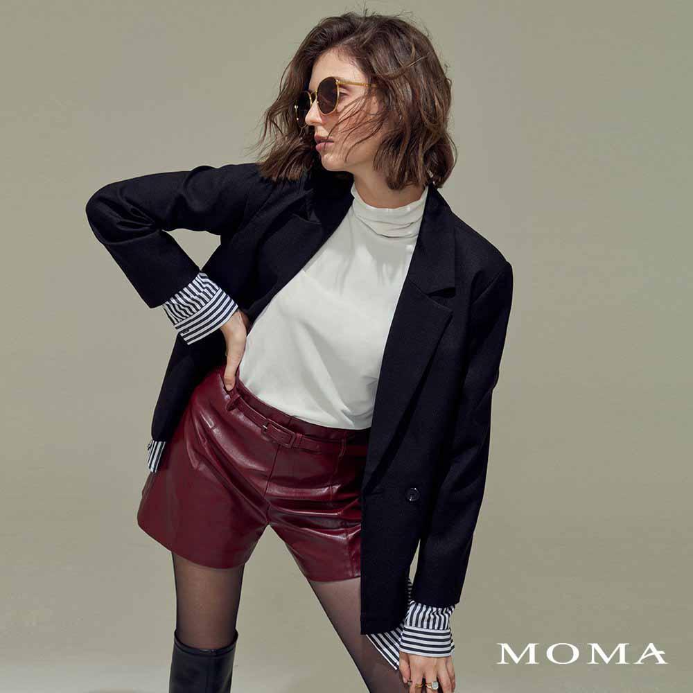 MOMA(02J005)拼接襯衫西裝外套
