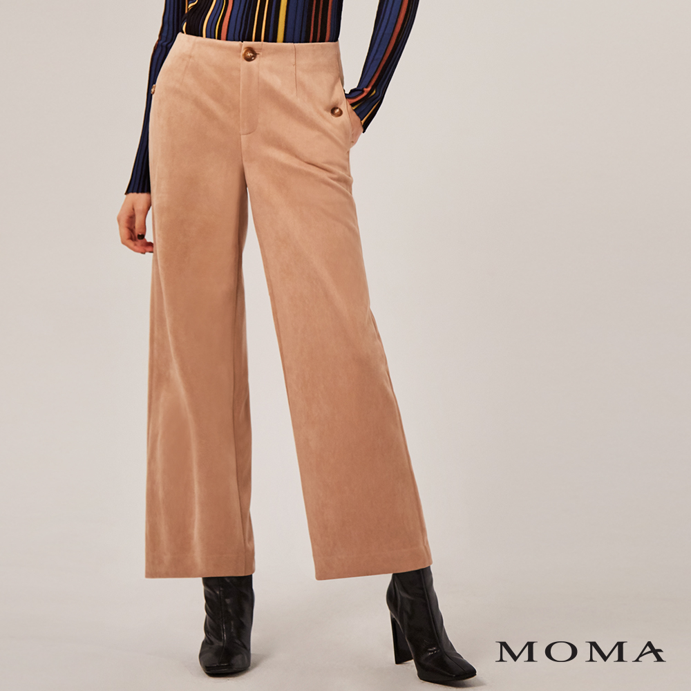 MOMA(02P043)簡約麂皮寬褲