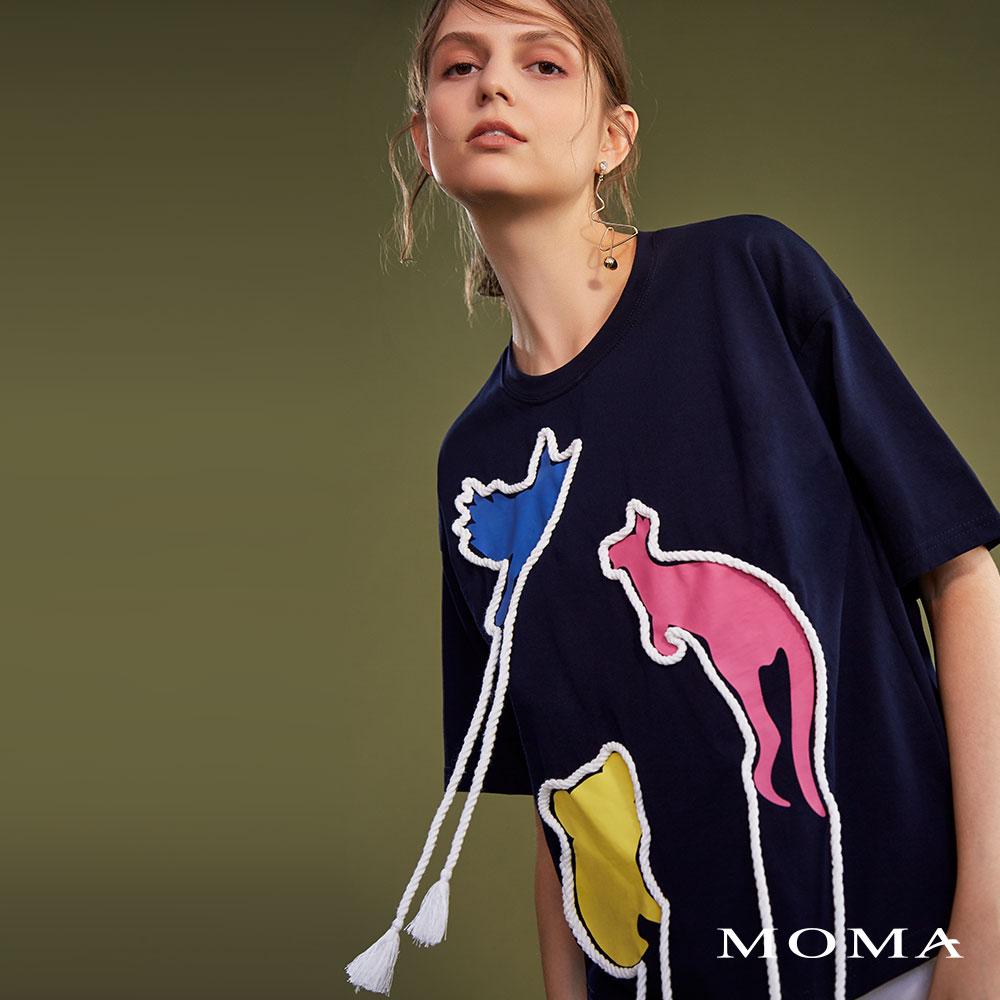 MOMA(02M047)動物拼貼裝飾T恤