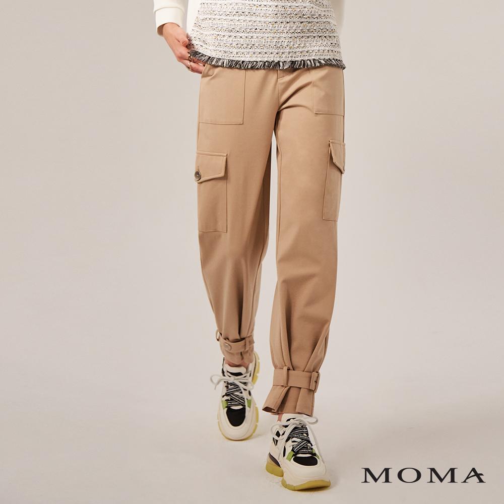 MOMA(02P008)工裝口袋綁口長褲