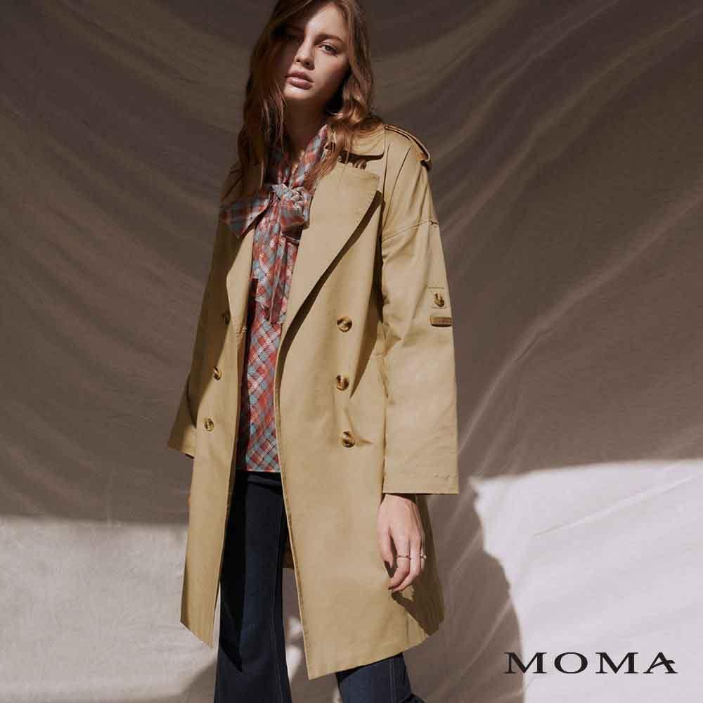 MOMA(02J051)帥氣寬鬆長版風衣