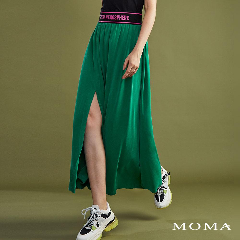 MOMA(02S032)運動織帶開衩裙
