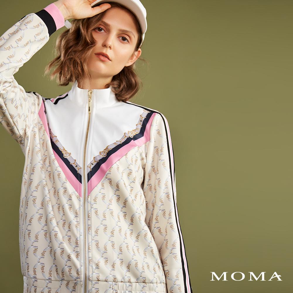 MOMA(02J024)復古印花運動外套-剩餘40號