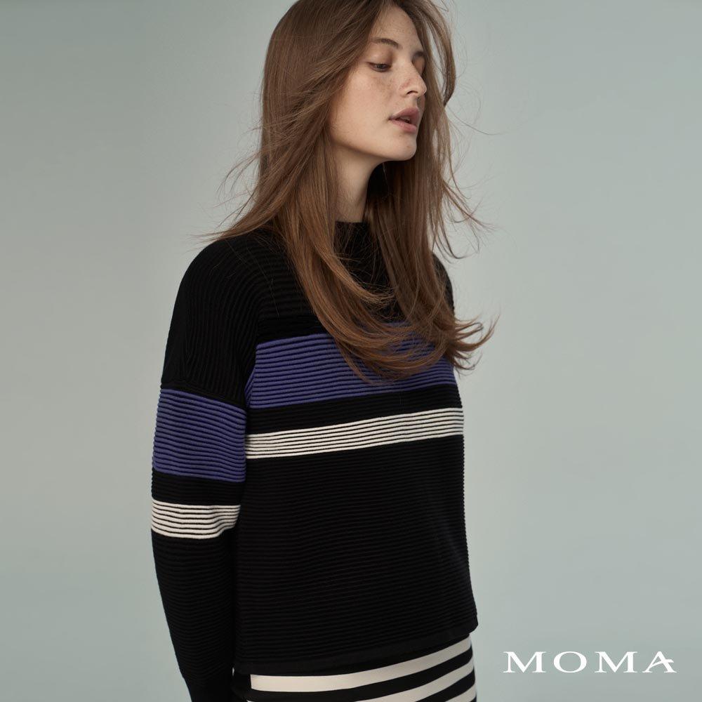 MOMA(02KM64)個性配條毛織上衣-剩餘34號