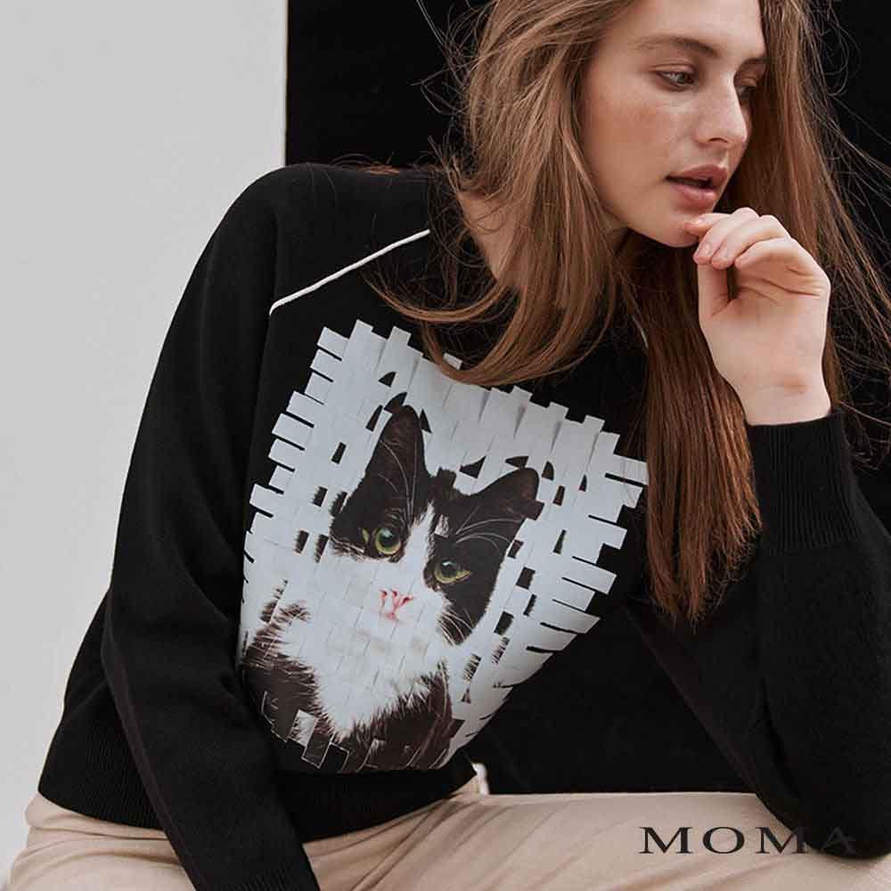 MOMA(02KM48) 貓咪印花上衣