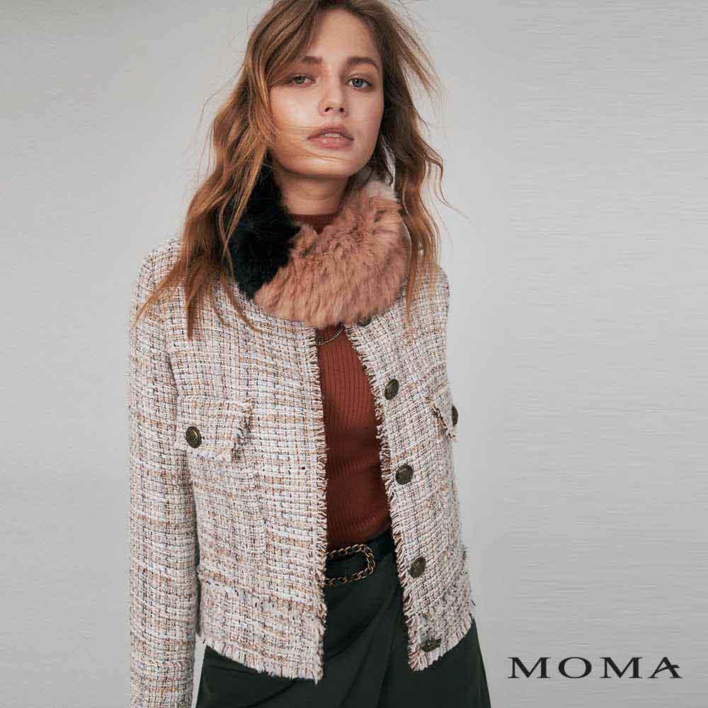 MOMA(02J054)大口袋花呢外套