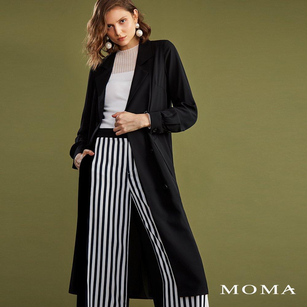 MOMA(02J016)雪紡長版西裝外套
