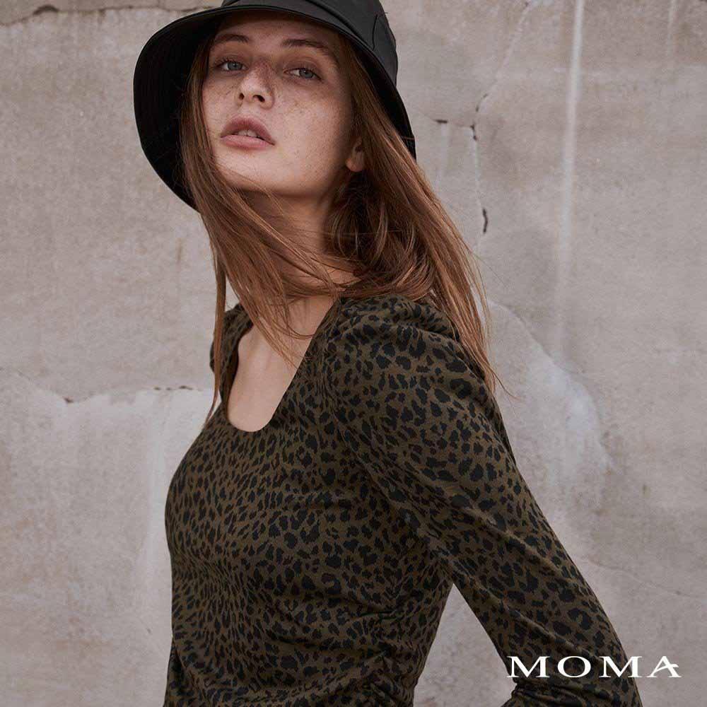 MOMA(02M063)U領公主袖上衣