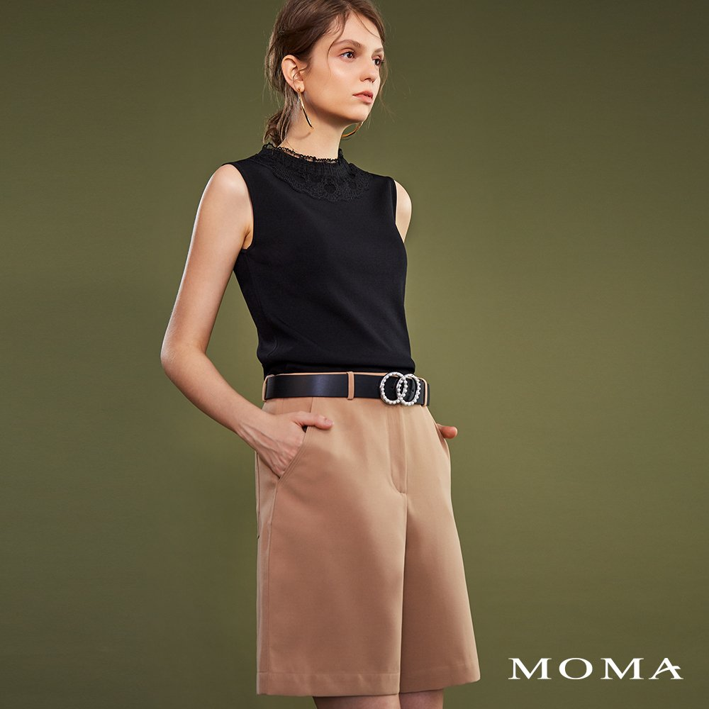 MOMA(02P048)單釦五分褲