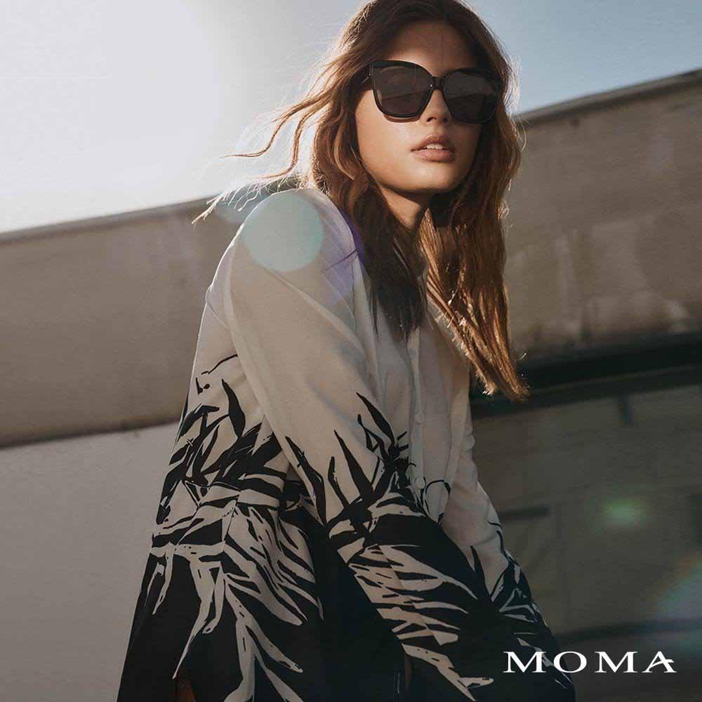 MOMA(02B025)黑白印花襯衫
